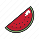 food, fruit, healthy, juicy, sweet, vegetable, watermellon icon
