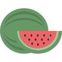 fruit, watermellon icon