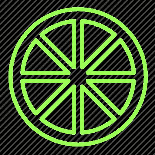citrus, fruit, green, lemon, slice icon