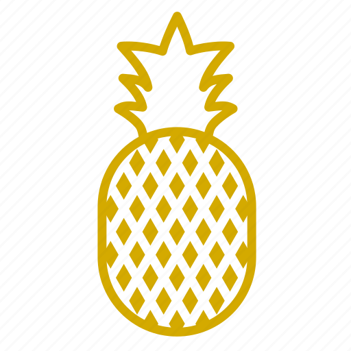 delicious, fruit, juicy, pineapple, yellow icon
