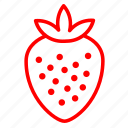 berry, fruit, red, ripe, strawberry icon