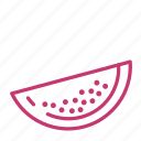 fruit, juicy, melon, summer, watermelon icon