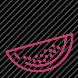 fruit, juicy, melon, summer, watermelon icon