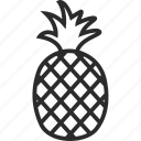 food, fruit, healthy, pineapple, pineapple juice icon