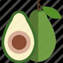 avocado, food, fruits, lobule, ossicle