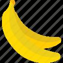 banana, food, fruits, sweet icon