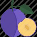 food, fruits, lobule, pulm, sheet icon