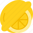 food, fruit, fruits, lemon, slice icon