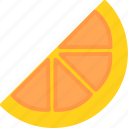 food, fruit, fruits, orange, slice icon