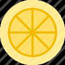 food, fruit, lemon, slicefruits icon