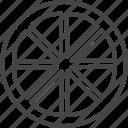 food, fruit, fruits, line, orange, outline, slice icon