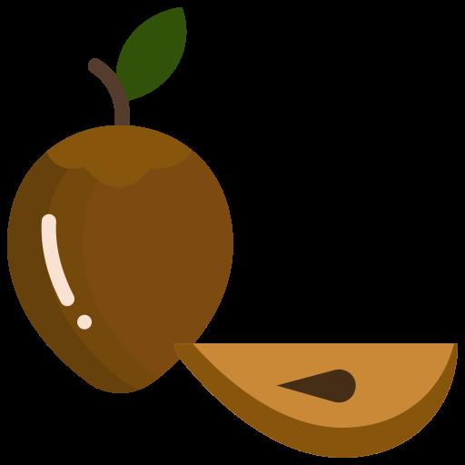 Chikoo, fruit, mud apples, noseberry, sapodilla icon - Free download