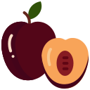 food, fruit, fruits, plum, plum fruit icon