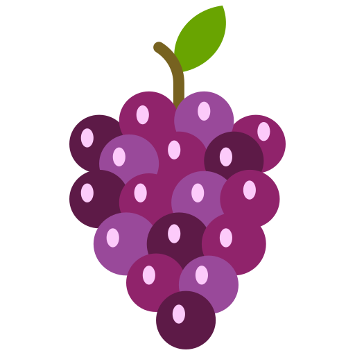 food, fruit, fruits, grapes, purple grapes icon