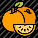 fruit, healthy, orange, vegetarian
