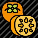 fruit, healthy, persimmon, vegetarian