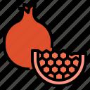 fruit, healthy, pomegranate, vegetarian