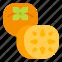 fruit, healthy, persimmon, vegetarian icon