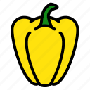 bell, fruits, pepper, vegetable icon