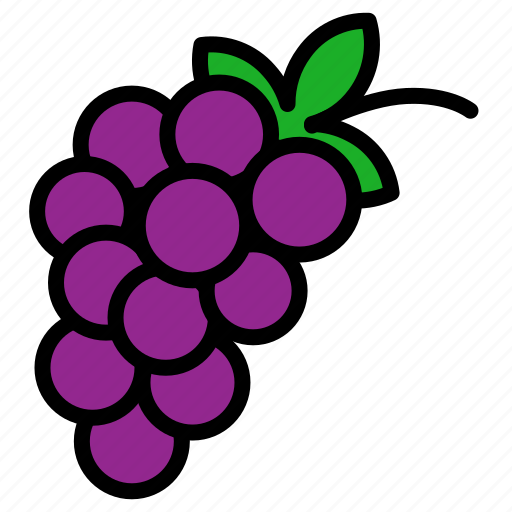 fruits, grape, vegetable icon