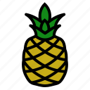fruits, pineapple, vegetable icon