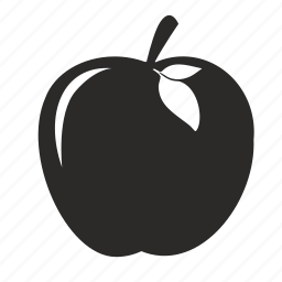 apple, food, fruit, mobile icon