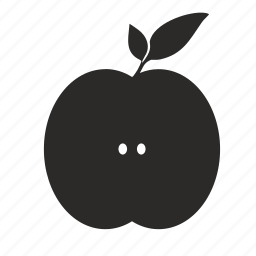 apple, cooking, food, fruit, half, kitchen icon