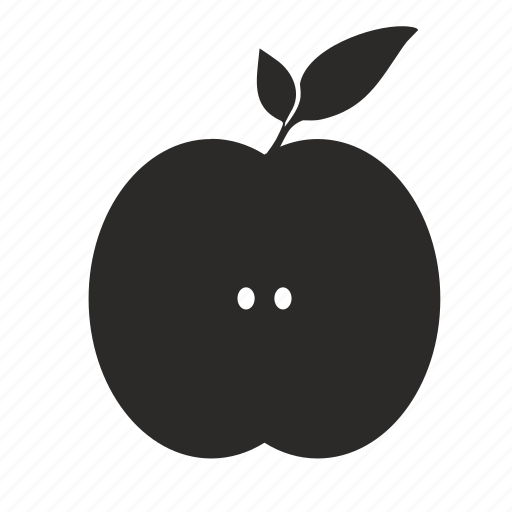 Apple, cooking, fruit, half, food, kitchen icon - Download on Iconfinder