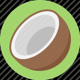 coconut, coconut fruit, coconut slice icon
