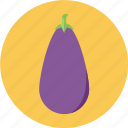 eggplant, vegetable, white icon