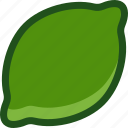 food, fruit, lemon, lime, plant icon