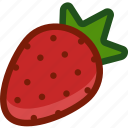 food, fruit, plant, strawberry icon