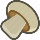 champignon, food, mushroom, plant, vegetable icon