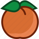 apricot, food, fruit, peach, plant icon
