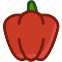 bellpepper, food, pepper, plant, vegetable icon