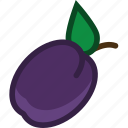 food, fruit, plant, plum icon
