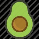 avocado, food, fruit, plant icon