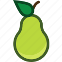 food, fruit, pear, plant icon