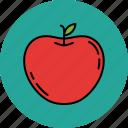 apple, fruit, healthy, juicy, nutritious icon