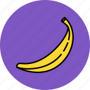banana, food, fruit, nutritious icon