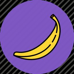 banana, food, fruit, nutritious icon