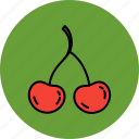 cherry, food, fruit, healthy, nutritious icon