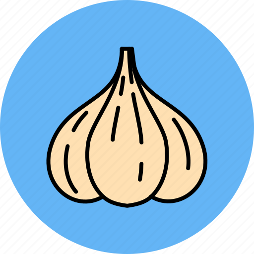 food, garlic, smell, vegetable icon