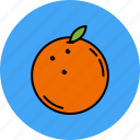 fruit, juicy, nutritious, orange, sweet icon