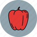 crunchy, food, paprika, vegetable icon