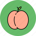 food, fruit, juicy, peach, sweet icon
