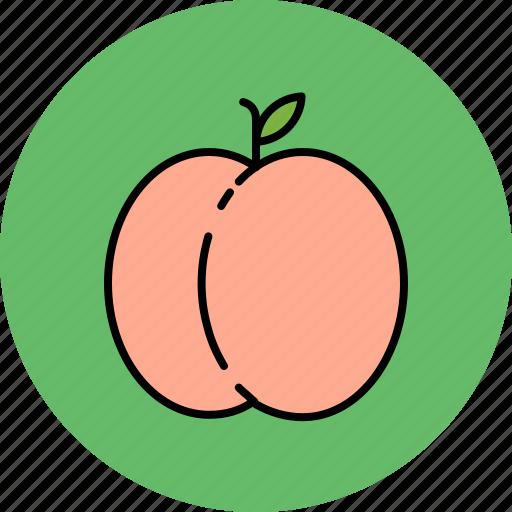 food, fruit, juicy, peach, sweet icon