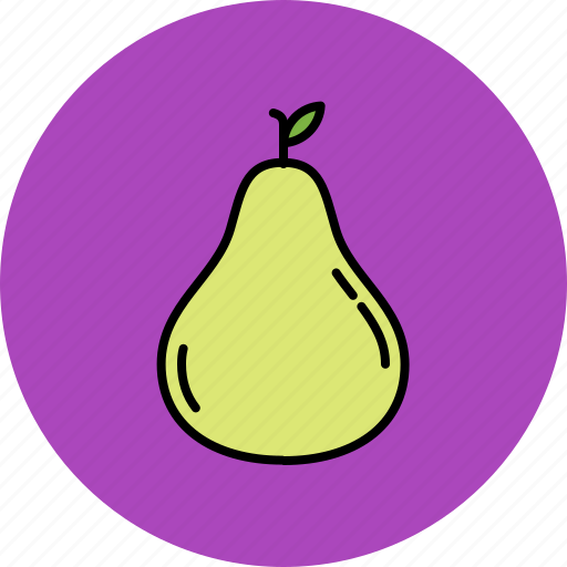 food, fruit, juicy, nutritious, pear icon