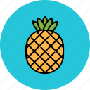 fruit, juicy, pineapple, sweet icon