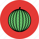 juicy, melon, sweet, vegetable, water icon